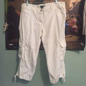 J.Crew white cargo pants